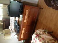 Solid wood dressers and bed