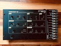 Moog Werkstatt ø1 with cv expander. Synth. Synthesiser.