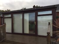 Conservatory / Lean-to UPVC Mahogany 5m x 5m