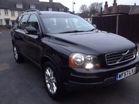 Black Volvo xc90 2.4 diesel , automatic, black leather interior.