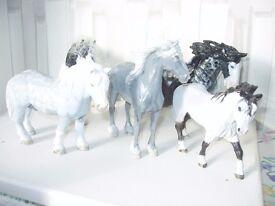 Schleich model horses,