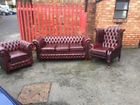 Newchesterfield leather suite