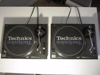 Technics 1210 Mk 5 x 2 with Shure M447 Carts
