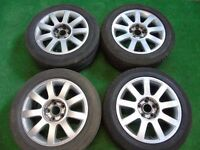 """AUDI A3, A4, A6, VW GOLF MK5, MK6, PASSAT RS4 STYLE 16"""" ALLOY WHEELS 5 x 112"""