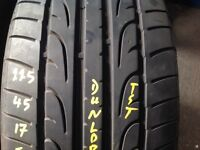 Second hand tyres/ 225/45/17 / singles from £15...