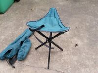 Two small camping seats