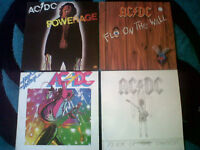 ac / dc vinyl album collection