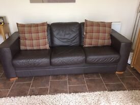 2 x Italian leather sofas