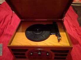 retro record player / cd player / radio