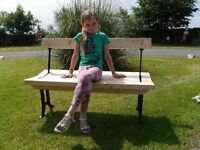 Hand made Reversible two way tram bench, by Richard Smith Padiham