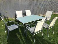 Contemporary Garden table with chairs