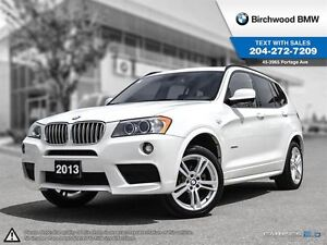 2014 BMW X3 Xdrive35i Navigation, M-Sport & Premium Packages!