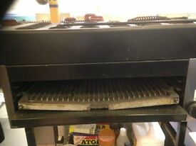 2 catering freestanding/tabletop grills (gas) including stands FALCON FOODSERVICE EQUIPMENT
