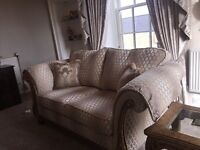 Two piece on three-piece sofa Gascoigne with 2 lamp tables Gascoigne 4 mouth old