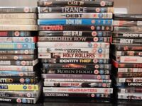61 DVD's (sixty one) - ALL IN GOOD CONDITION - ONLY £36 THE LOT - WORKS OUT AT 60 PENCE PER DVD