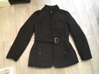 Never Worn Black Size 12 Quilted Coat