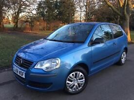 2008 (58) VW POLO 1.2 (ONLY 65k GENUINE MILAGE) *12 months MOT*CD PLAYER NT corsa golf astra fiesta