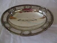 """Silver plated oval serving dish 11"""" x 8.5"""""""
