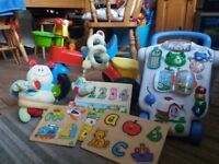 Assortment of childrens under 3year olds toys, only used at Grandparents House