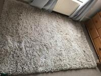 Ikea gaser cream high pile large rug