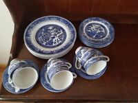 Old willow English iron stone dinner service