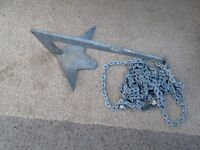Boat Anchor 5kg Bruce with chain