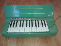 VINTAGE BOXED GREEN HOHNER ORGANETTA, ELECTRIC ORGAN/PIANO