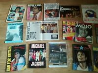21 x michael jackson books , annual , poster , magazines , sheet music