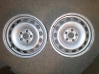 Vw caddy steel wheels (pair)