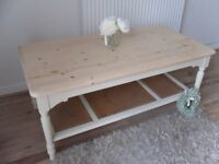 ** LAURA ASHLEY 'CLIFTON' COFFEE TABLE - BEAUTIFULLY RESTORED IN SHABBY CHIC STYLE **