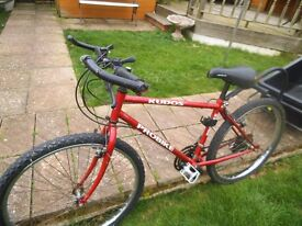 Old used Mountain Bike and Trailer - Ideal Project for Festival - plus 2 other bikes bmx JOBLOT
