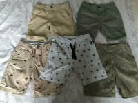 5x pairs of boys shorts age 5-6