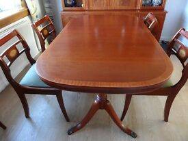 McIntosh Elgin Dining Table with Six Chairs and matching Display Unit