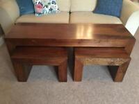 Mango Wood Coffee Table Set
