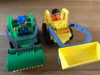Lego, LEGO Duplo Road Sweeper and Front loader, toys, trucks, digger, construction