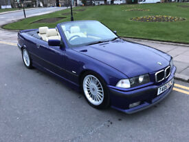 BMW E36 328i CONVERTIBLE INDIVIDUAL VELVET BLUE FSH READ SPEC E30 E39