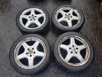 Mercedes Alloy wheels & tyres x4 5 stud 245/40/R17x2 225/45/R17 PCD112
