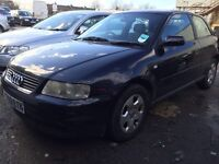 Audi A3 ,3dr hatchback petrol manual 2001 good condition inside and out £295