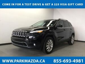 2016 Jeep Cherokee Limited 4WD - Bluetooth, NAV, Remote Start, B