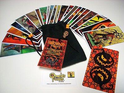 Halloween Tarot Cards - 22 Card Major Arcana Deck (With Handmade Tarot - Halloween Tarot Cards