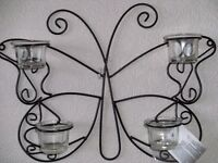 BUTTERFLY DESIGN TEALIGHT HOLDER (New & Boxed)