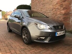 SEAT IBIZA 2013/VW POLO 1.4L PETROL-12 MONTHS MOT-FULL SERVICE HISTORY-LOW MILLAGE 15K FROM NEW