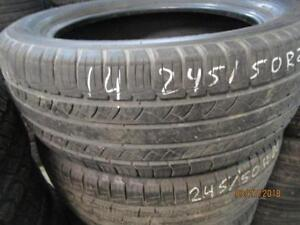 245/50R20 SINGLE ONLY USED MICHELIN A/S TIRE