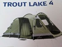 Outwell Trout Lake 4 Tent and Extension
