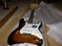 Brand new Squire series affinity strat, still in box, ideal christmas present, £120