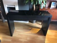 Quick sale! IKEA Malm dressing table in black with smoked glass top and drawer
