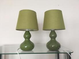 Set of 2 Lamps - Green