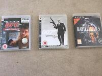 PS3 games - UFC, Quantom of Solace, Battlefield 3 £5 each