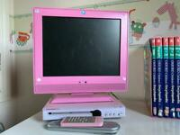 Pink Tv and DVD player plus kids dvds