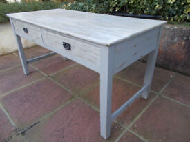 Solid Wood Kitchen Table with Drawers - Annie Sloan - Country/Coast/Urban Living